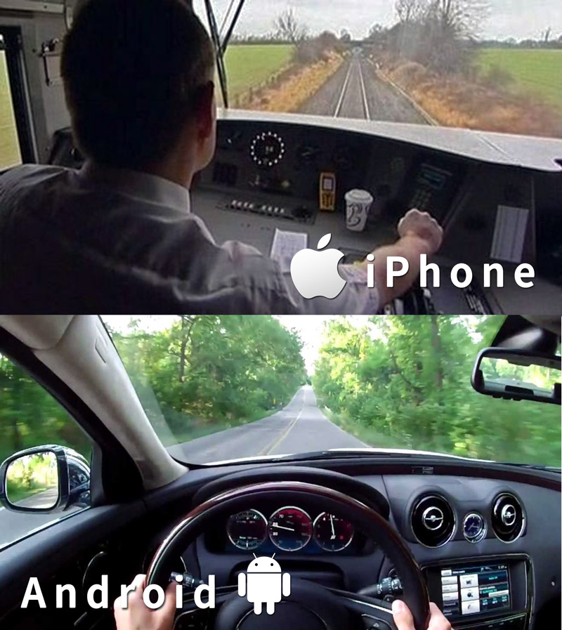 Android v iPhone iOS